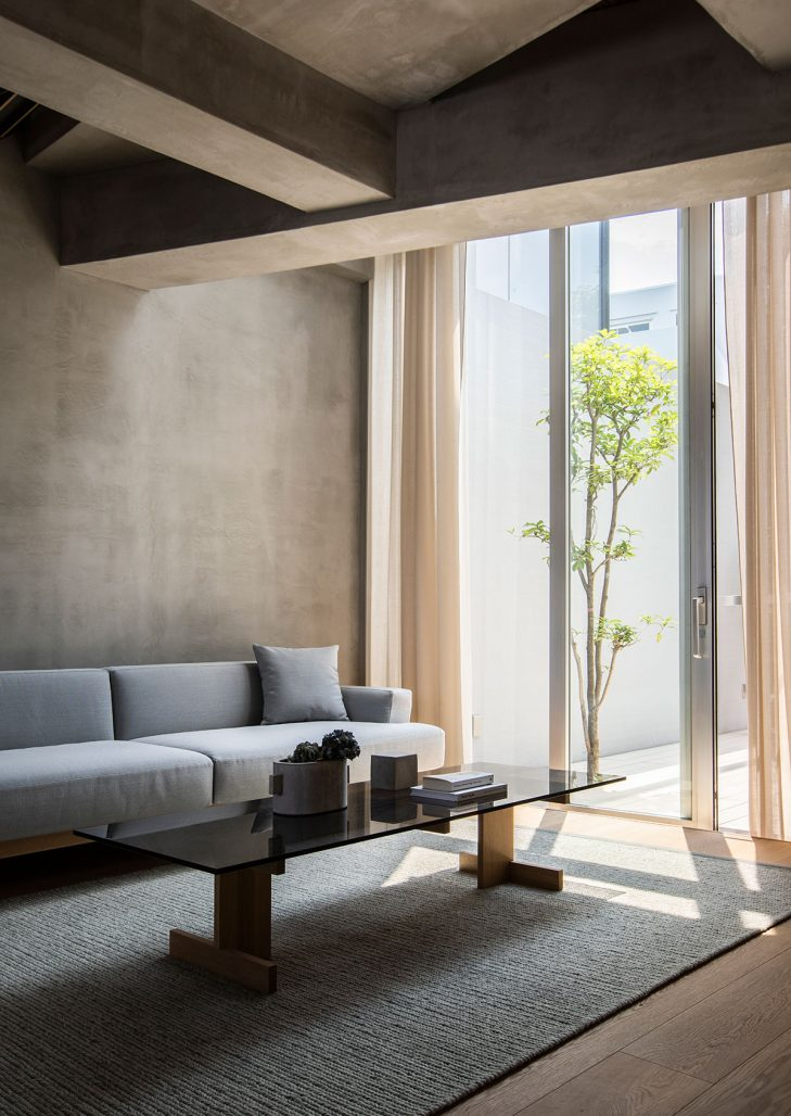 Vardagsrum i lägenhet i Tokyo