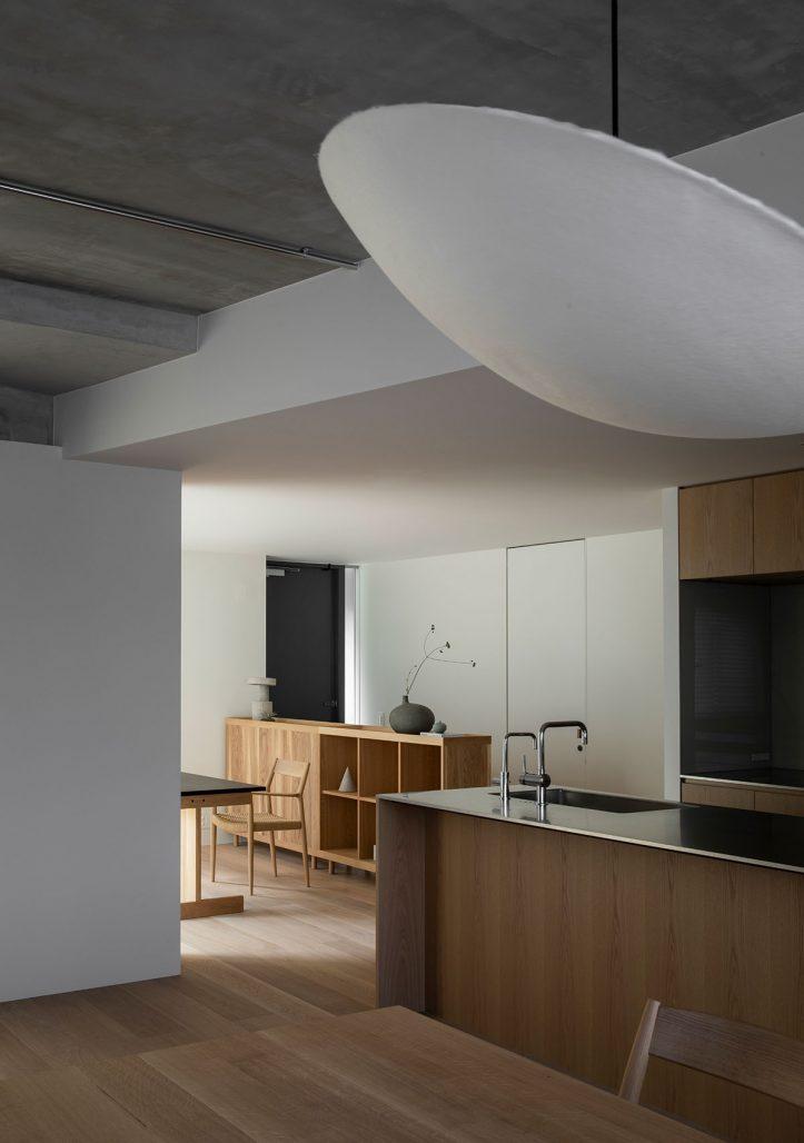 Kök i en lägenhet i Tokyo