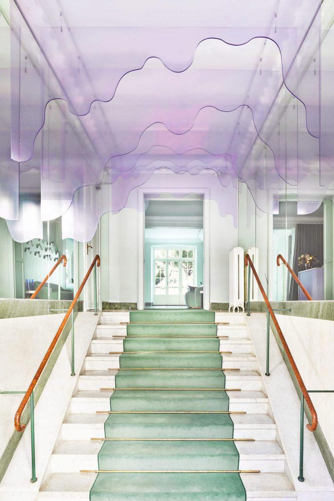 Pasteller i inredningen på Maria Nilas huvudkontor av Aska Architects