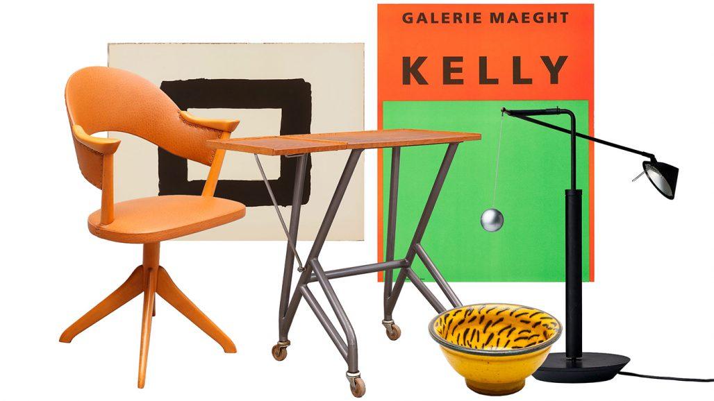 Auktionsfynd för hemmakontoret – skrivbordsstol, läsbord och bordslampa