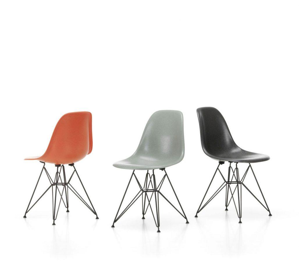 Paret Eames stol Fiberglass Chair från 1951
