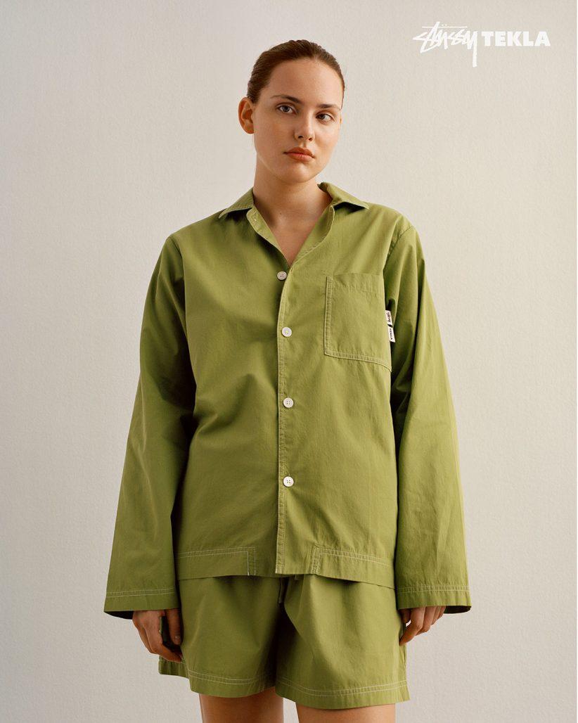Pyjamas från Tekla x Stüssy