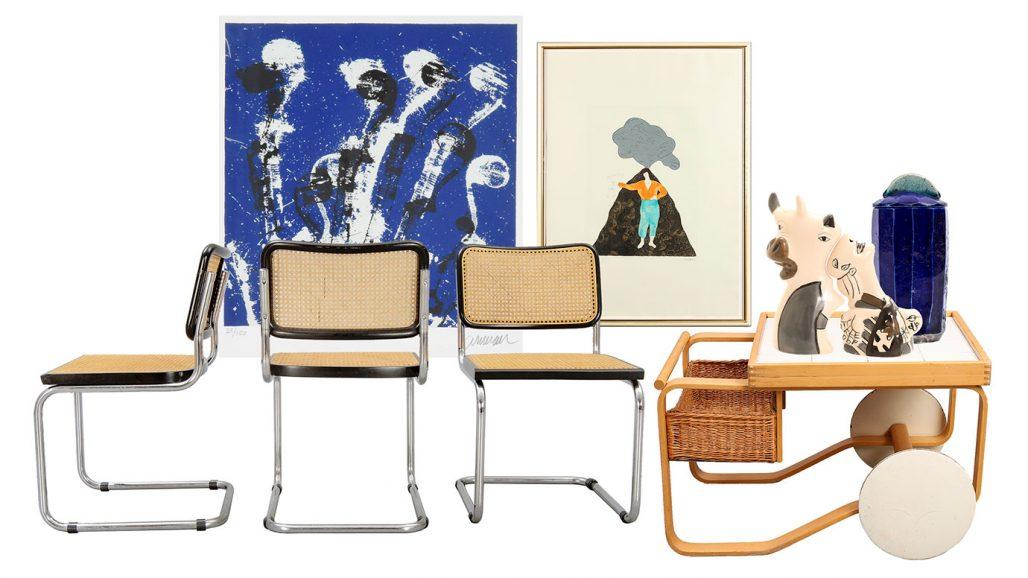 Auktionsfynd – stolar från Italien och serveringsvagn 900 av Alvar Aalto