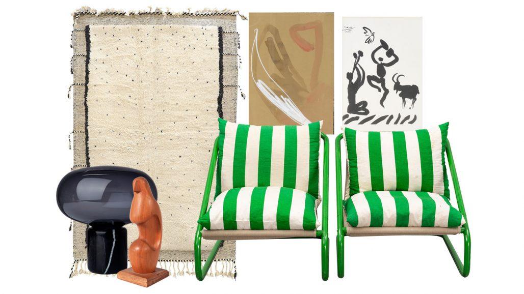 Auktionsfynd – bordslampa, fåtöljer från Ikea och litografi efter Pablo Picasso
