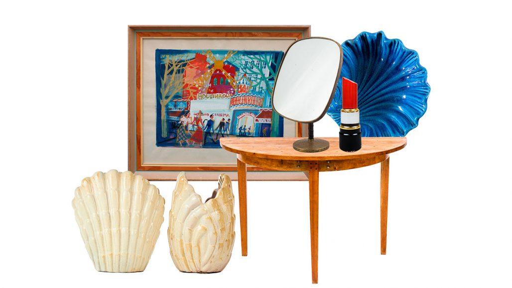 Auktionsfynd – snäckformade vaser, spegel och skål från Italien