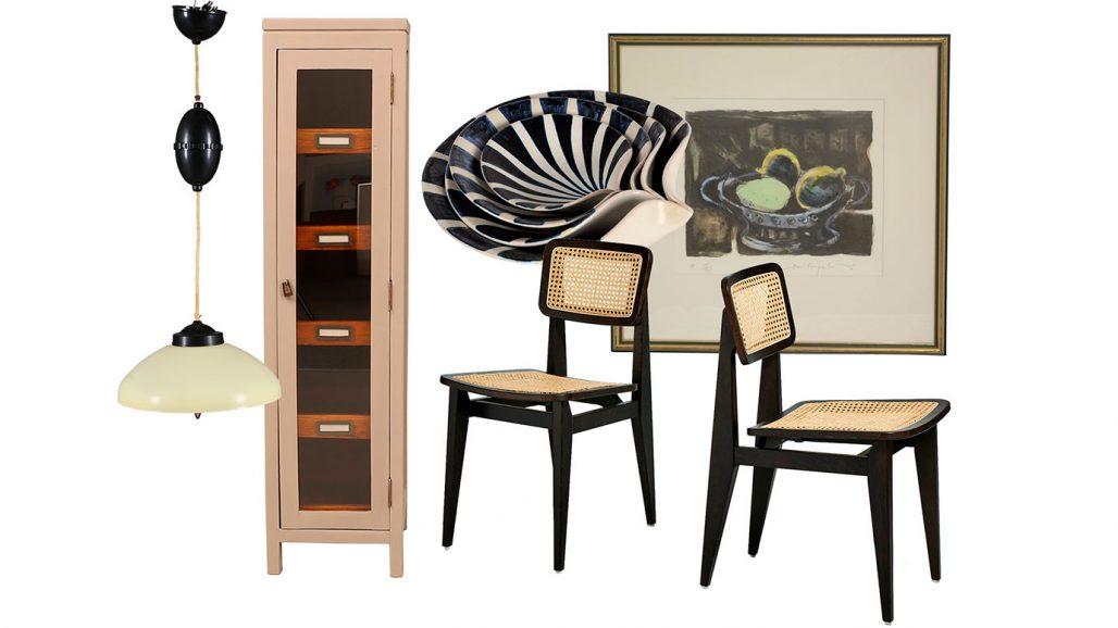 Auktionsfynd – vitrinskåp, stolar och skålar