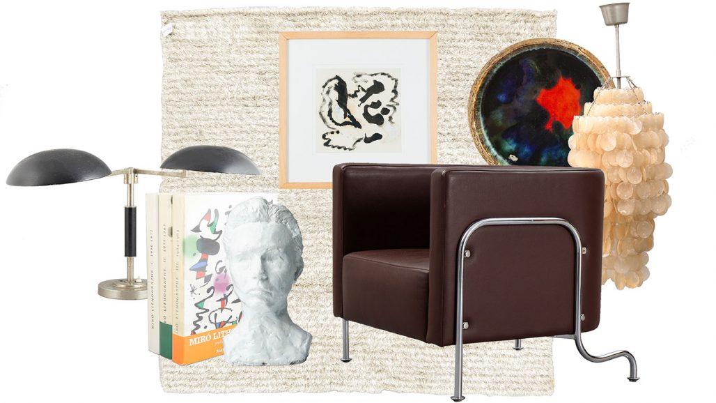 Auktionsfynd – skulptur, bordslampa och fåtölj av Gunnar Asplund