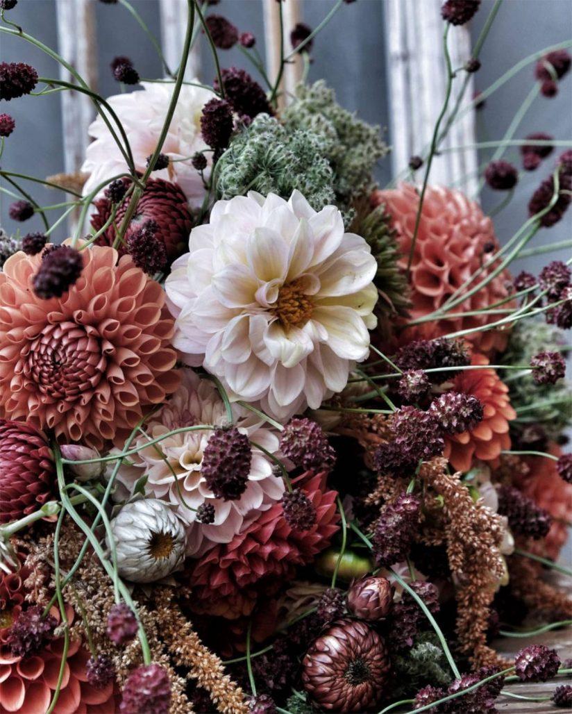 Blomsterkreation av floristen Linda Hansson