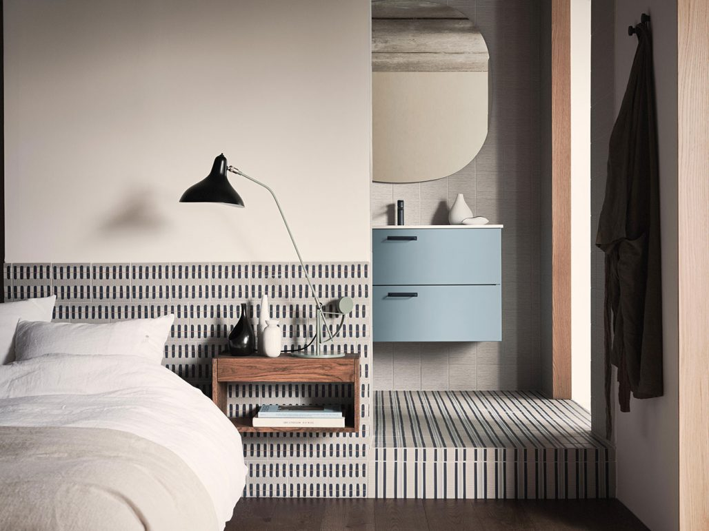 Granitkeramikplattor med mönster inspirerade av Stig Lindberg