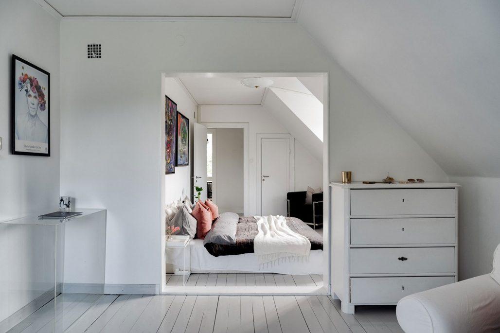 Sovrum i villa i Saltsjöbaden
