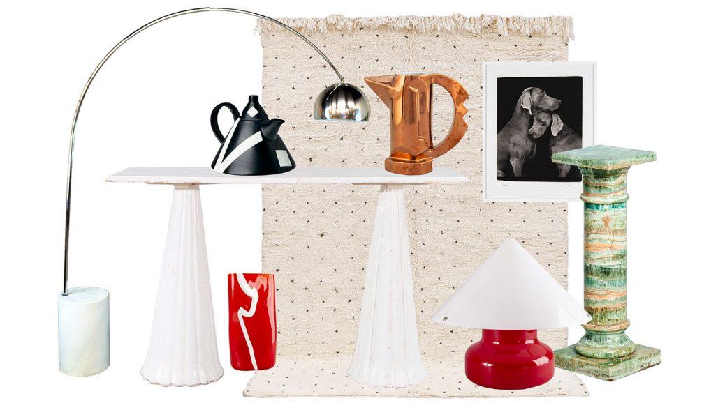 Auktionsfynd – tekanna, röd vas och röd bordslampa