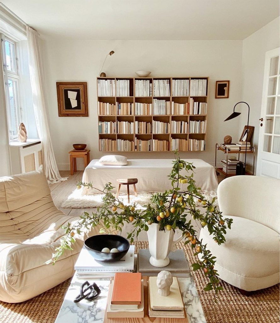 Vardagsrum hemma hos Simone Polk